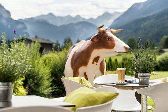 Waidring, Austria: Terrace at KUHOTEL by Rilano