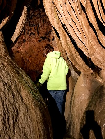Branson West, MO: Walking between some of the formations.