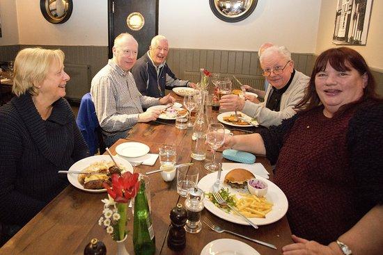 Lavenham, UK: Lunch in the restaurant