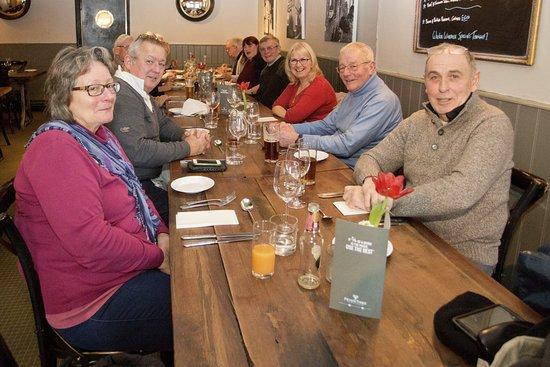 Lavenham, UK: Lunch in the restaurant.