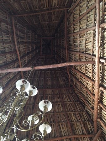 Laguna Lodge Eco-Resort & Nature Reserve: Thatched roof open to air below