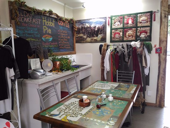 Matamata, Nueva Zelanda: 免費哈比人服飾供顧客拍照留念