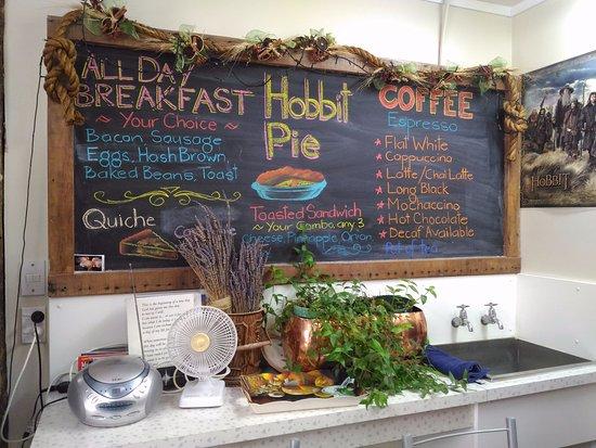 Matamata, Nueva Zelanda: 店內菜單