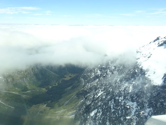 Fly Fiordland: Going above the clouds