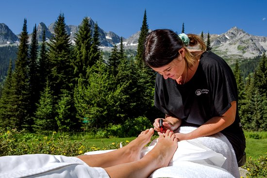 Fernie, Canadá: Signature outdoor summer pedicure!