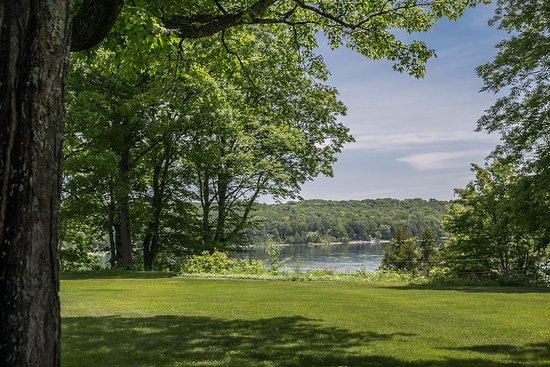 Omena, MI: view from lawn