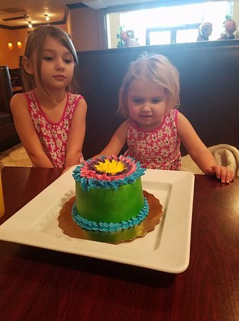 Lejla loving her cake for breakfast with her big sister at Stonewalls #prayforlejla