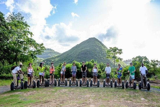 Gros Islet, Santa Lucía: Lovely day with St. Lucia Segway - on top Mt. Pimard