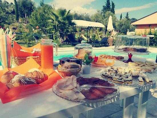Acquaviva Picena, Italy: Colazione a bordo piscina
