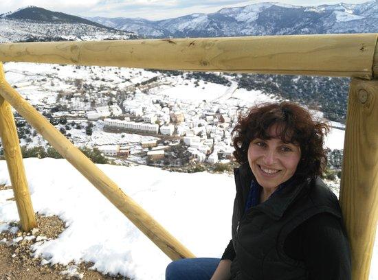 Un regalo de la naturaleza, Alpandeire nevado,preciosa estampa