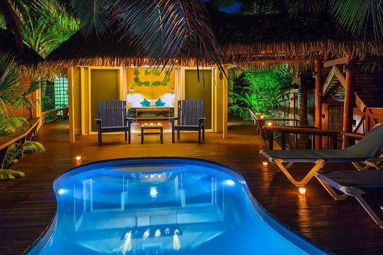 The Rarotongan Beach Resort Lagoonarium Honeymoon Pool Bungalow