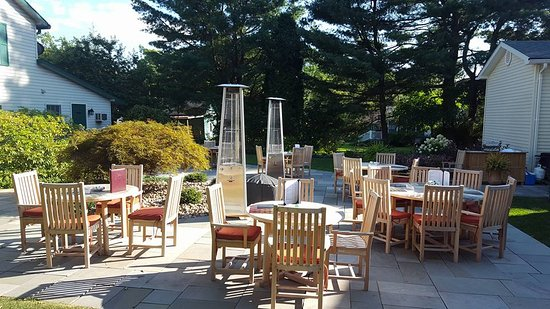 "Eagles Mere, PA: ""On The Rocks"" Our seasonal outside dining option."
