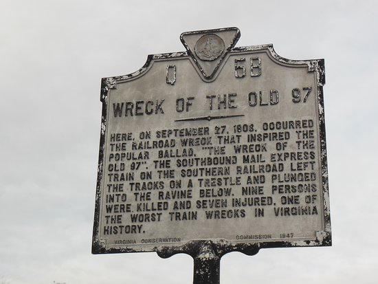 ‪Wreck of the old 97 historical site‬