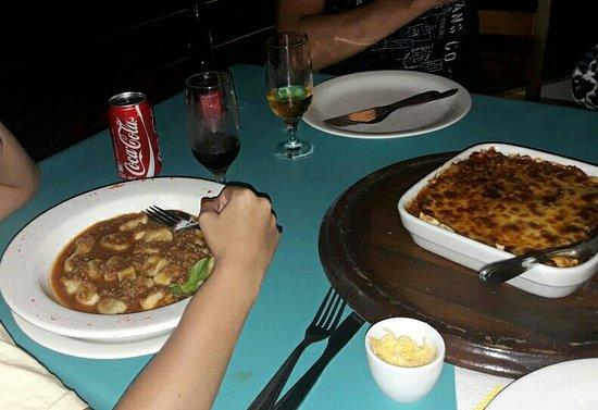 Sol de Bombinhas Premium: ñoquis y lasaña