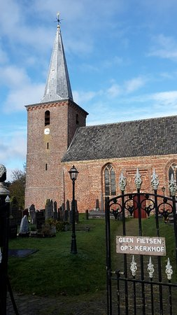 Terschelling, The Netherlands: pointy gate towards the church