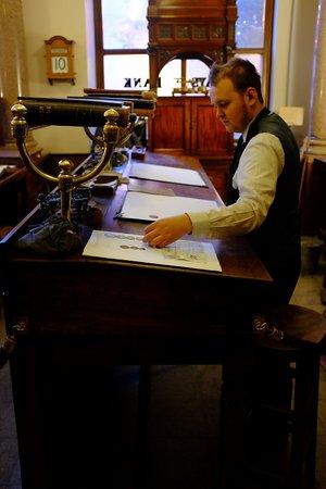 Beamish, UK: Friendly banker.