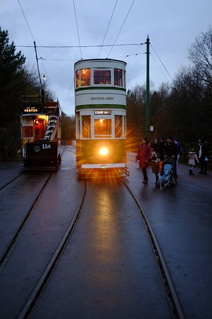 Beamish, UK: Time to go home, it's getting dark. (This was in December.)