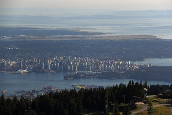 Grouse Mountain View Of Vancouver From