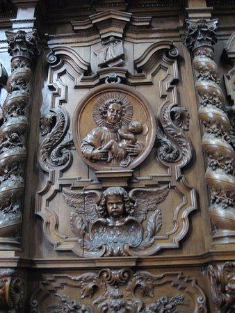 abbaye de Grimbergen, stalles, st Norbert