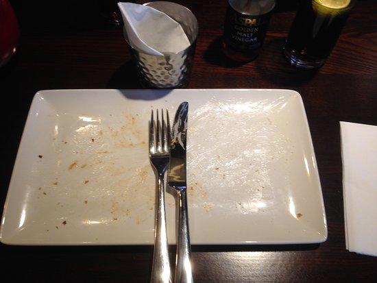 Kidlington, UK: Empty plate - says it all