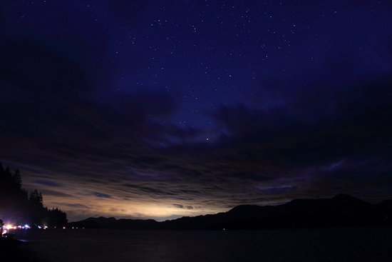 Harrison Hot Springs, Canadá: Harrison lake at night
