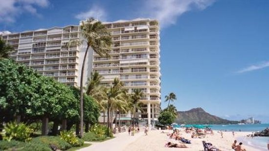 Waikiki Shore: this is side view from beach