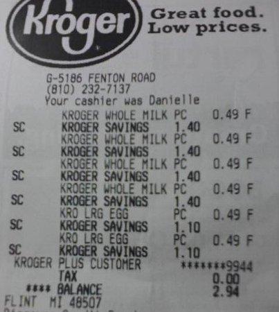 Flint, MI: Crazy Cheap milk and eggs prices at Kroger