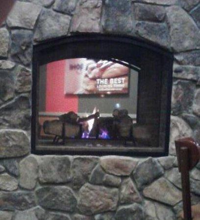 Fireplace at ihop Flint