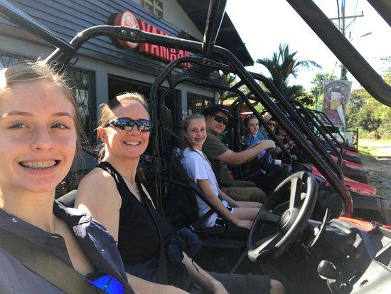 Uvita, Costa Rica: Getting ready to leave for the Jungle ATV Quad Tour.