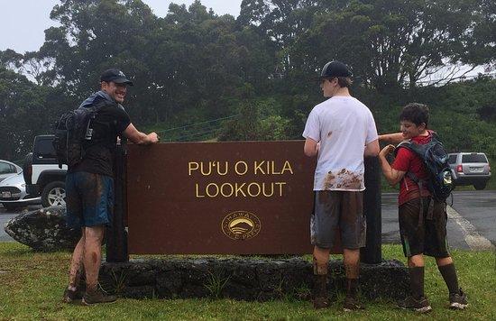 Waimea Canyon: End of hike MUDDY MESS