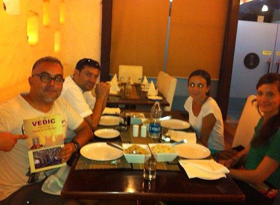 Vedic Vegetarian Restaurant: friends dinner