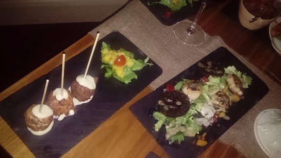 Bistro 73 by Phelim Byrne: smoked chicken lollypops, black pudding and scallops