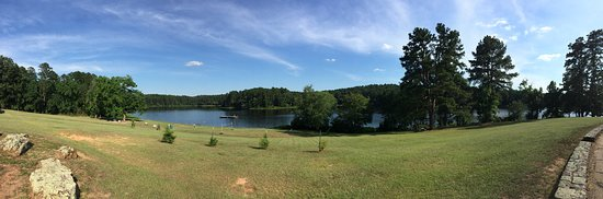 Daingerfield, TX: This is a panoramic shot of the lake area.