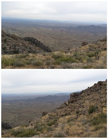 Yarnell, AZ: This is major rough terrain the heros were in!