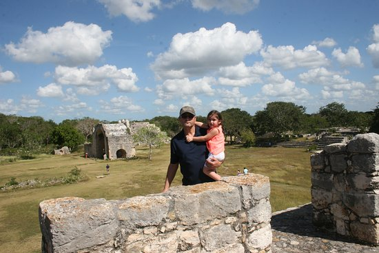 Dzibilchaltun Ruins: On top of one of one of the Mayan ruins