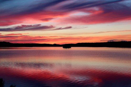 Millinocket, ME: sunset from campsite