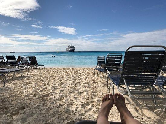 Half Moon Beach Lying On Chair And Enjoying The View