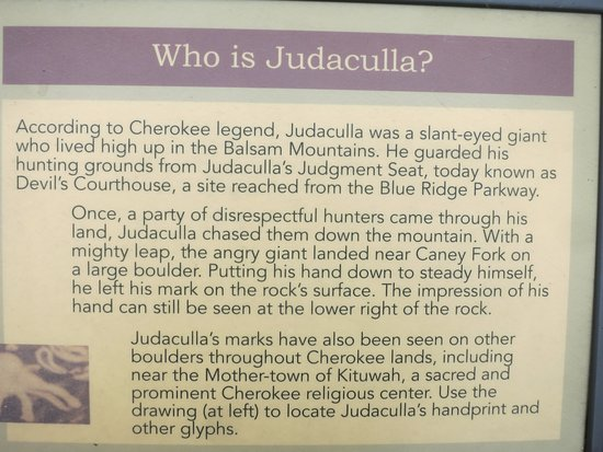 Cullowhee, NC: The Judaculla legend.