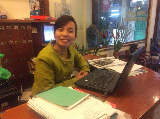 Hanoi Charming Hotel: La reception