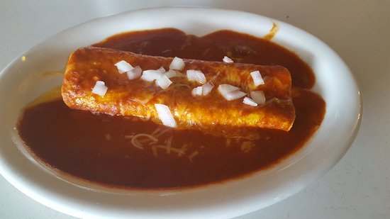 Wray, CO: red cheese corn enchilada. Served with or with out onions absolutely delicious