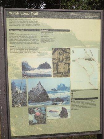 Klamath, CA: Trail sign