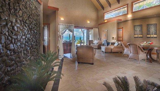 Living room with indoor waterfalls - Picture of Rumours Luxury ...