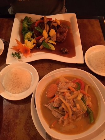 Strongsville, OH: Tamarind Mango Duck and Pork Curry