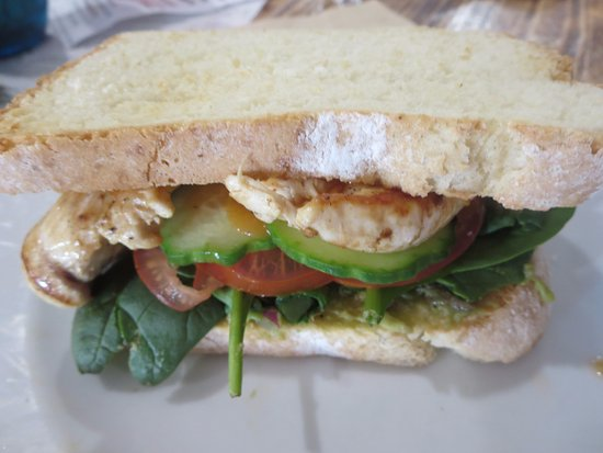 Marcoola, Australia: Chicken burger with gf bread