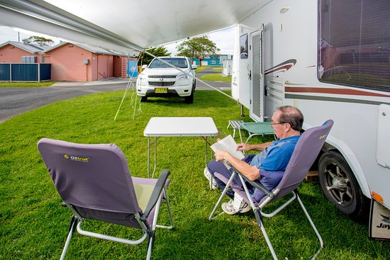Ulverstone, Australia: Set up, relax and enjoy the peaceful location
