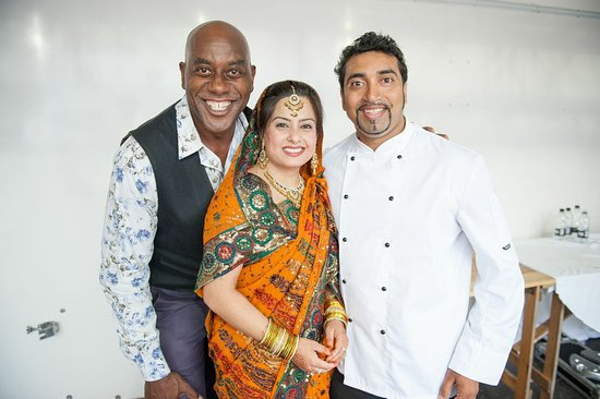 Best Indian, JazBa Bar & Spice Grill,: Friend Ainsley Ainsley Harriott & wife Shefali