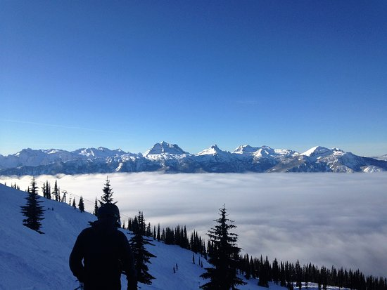 Revelstoke, Canadá: Valley inversion. Spectacular views