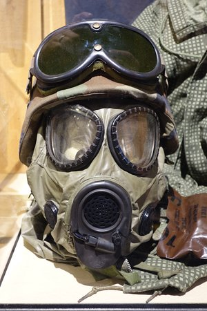 Camp Douglas, WI: Helmet with mask and goggles