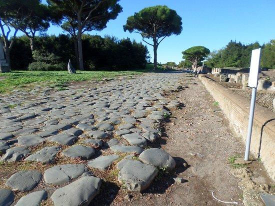 Ancient street in Ostia Antica