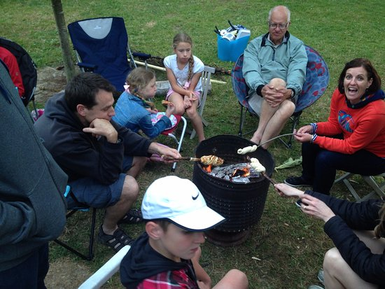 Quinney's Bush Camp: Quinney's Bush - family time around Brazier